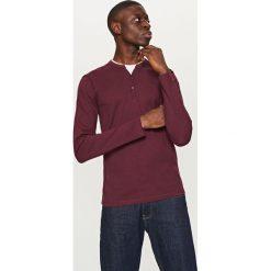 Gładki t-shirt z długim rękawem - Bordowy. Bluzki z długim rękawem męskie marki Marie Zélie. W wyprzedaży za 29.99 zł.