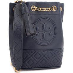 Torebka TORY BURCH - Fleming Mini Bucket Bag 49321 Royal Navy 403. Niebieskie torebki do ręki damskie Tory Burch, ze skóry. Za 1,509.00 zł.
