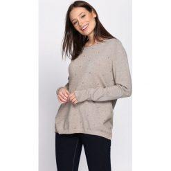 Beżowy Sweter Fast Drive. Brązowe swetry damskie Born2be, na jesień. Za 59.99 zł.