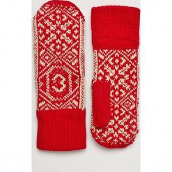 True Spin - Rękawiczki Zaporozhets. Czerwone rękawiczki damskie True Spin, z bawełny. W wyprzedaży za 39.90 zł.