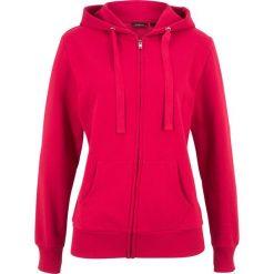 Bluza rozpinana bonprix czerwony. Czerwone bluzy damskie bonprix, w paski. Za 59.99 zł.