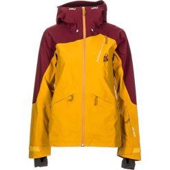 """Kurtka narciarska """"AstoriaM."""" w kolorze żółto-granatowym. Czerwone kurtki snowboardowe damskie Maloja, z gore-texu. W wyprzedaży za 861.95 zł."""
