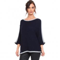 """Sweter """"Cecile"""" w kolorze granatowym. Niebieskie swetry damskie Cosy Winter, ze splotem, z okrągłym kołnierzem. W wyprzedaży za 159.95 zł."""