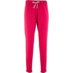 Spodnie z dżerseju z kolekcji Maite Kelly bonprix czerwień granatu. Spodnie materiałowe damskie marki DOMYOS. Za 37.99 zł.