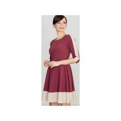 Sukienka K057 Bordo. Czerwone sukienki damskie Lenitif. Za 139.00 zł.
