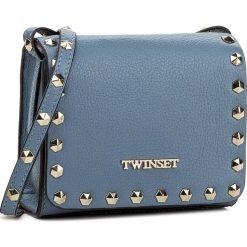 Torebka TWINSET - Beauty OA7TFD  Anice 00279. Niebieskie listonoszki damskie Twinset, ze skóry. W wyprzedaży za 419.00 zł.