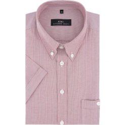 Koszula SERGIO Slim 16-03-06. Różowe koszule męskie Giacomo Conti, na lato, w paski, z krótkim rękawem. Za 149.00 zł.