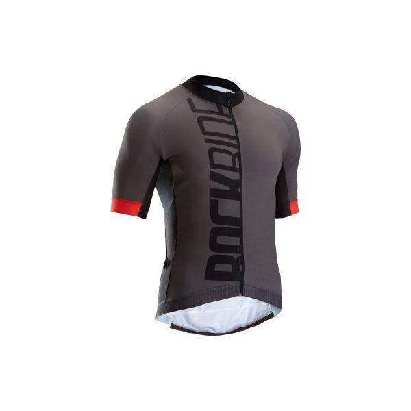 Koszulka na rower MTB XC Light męska. Szare koszulki sportowe męskie B'TWIN, z elastanu. W wyprzedaży za 149.99 zł.