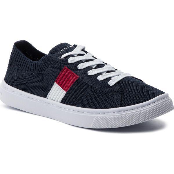 b3bf10a881f8b Tenisówki TOMMY HILFIGER - Knitted Flag Light Sneaker FW0FW04150 ...