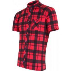 Sensor Koszulka Rowerowa Square Red S. Czerwone koszulki sportowe męskie Sensor, z krótkim rękawem. Za 179.00 zł.