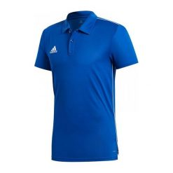 Adidas Koszulka piłkarska CORE 18 Polo niebieska r. S (CV3590). Koszulki polo męskie Adidas. Za 79.00 zł.