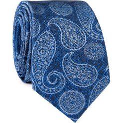 Krawat jedwabny KWNR000316. Niebieskie krawaty i muchy Giacomo Conti, paisley, z jedwabiu. Za 129.00 zł.