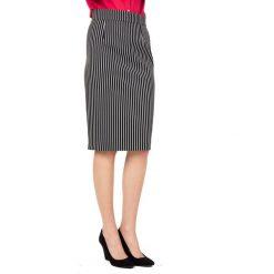 Ołówkowa spódnica w pasy BIALCON. Szare spódnice damskie BIALCON, w paski. W wyprzedaży za 129.00 zł.