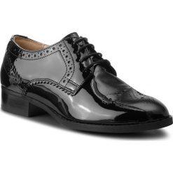 Oxfordy CLARKS - Netley Rose 261351674 Black Pat. Czarne półbuty damskie Clarks, ze skóry. W wyprzedaży za 319.00 zł.