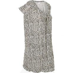 Długa tunika z kreszowanego materiału + legginsy 3/4 bonprix w cętki leoparda. Tuniki damskie marki bonprix. Za 49.99 zł.