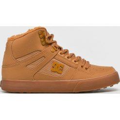 DC - Buty. Brązowe buty sportowe męskie DC, z materiału. W wyprzedaży za 379.90 zł.