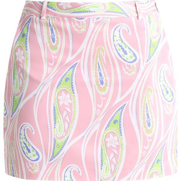 05831add Polo Ralph Lauren Golf PRINTED TECH SATEEN Spódnica sportowa paisley pink  mult