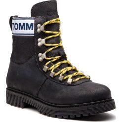 Trapery TOMMY JEANS - Outdoor EM0EM00170  Black 990. Czarne śniegowce i trapery męskie Tommy Jeans, z jeansu. Za 699.00 zł.