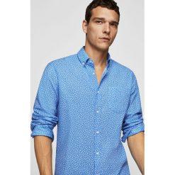 Mango Man - Koszula Laura. Niebieskie koszule męskie Mango Man, z bawełny, button down, z długim rękawem. W wyprzedaży za 99.90 zł.
