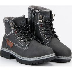 Buty dziecięce chłopięce traperki szare r. 32. Buty zimowe chłopięce marki Geox. Za 151.12 zł.