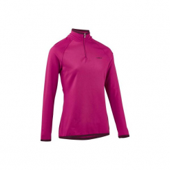 Koszulka narciarska FRESHWARM 1/2 ZIP damska. Czerwone t-shirty damskie WED'ZE, z elastanu. W wyprzedaży za 49.99 zł.