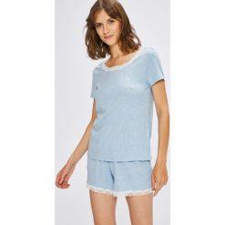 Lauren Ralph Lauren - Piżama. Szare piżamy damskie Lauren Ralph Lauren, z bawełny. W wyprzedaży za 269.90 zł.