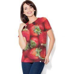 Colour Pleasure Koszulka CP-030  241 czerwona r. M/L. Bluzki damskie marki Colour Pleasure. Za 70.35 zł.