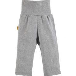 Spodnie w kolorze szarym. Spodenki niemowlęce Steiff, z aplikacjami, z bawełny. W wyprzedaży za 32.95 zł.