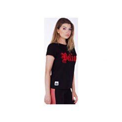 Believe Black T-shirt. Białe t-shirty damskie Kingsize, z nadrukiem, z zamszu. Za 69.00 zł.