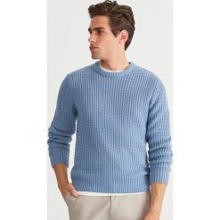 Sweter - Niebieski. Swetry przez głowę męskie marki Giacomo Conti. W wyprzedaży za 79.99 zł.