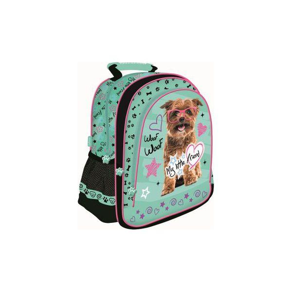 fe809d7c40e17 Plecak szkolny dla dziewczynki My Little Friend piesek w okularach ...