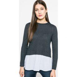 Only - Sweter New Oxford. Szare swetry damskie Only, z bawełny, z okrągłym kołnierzem. W wyprzedaży za 99.90 zł.
