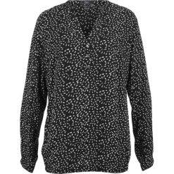 Bluzka, długi rękaw bonprix czarno-biały z nadrukiem. Bluzki damskie marki Colour Pleasure. Za 27.99 zł.