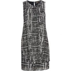 Sukienka szyfonowa bonprix czarno-biały wzorzysty. Czarne sukienki damskie bonprix, z szyfonu, eleganckie. Za 79.99 zł.