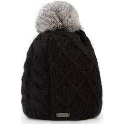 Czapka damska 87-HF-010-1. Czarne czapki i kapelusze damskie marki Sinsay. Za 59.00 zł.