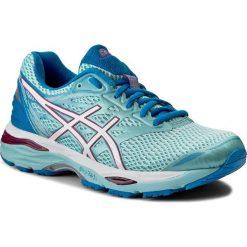 Buty ASICS - Gel-Cumulus 18 T6C8N  Aqua Splash/White/Pink Glow 6701. Niebieskie obuwie sportowe damskie Asics, z materiału. W wyprzedaży za 349.00 zł.