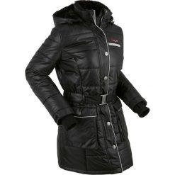 Kurtka pikowana outdoorowa bonprix czarny. Czarne kurtki damskie bonprix, w paski. Za 249.99 zł.