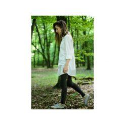 Długa koszula z organicznej bawełny. Białe koszule damskie Siss, z bawełny, z długim rękawem. Za 350.00 zł.