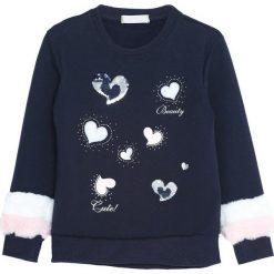 Granatowa Bluza Your Hope. Niebieskie bluzy dla dziewczynek Born2be, na jesień. Za 59.99 zł.