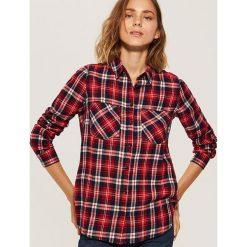 Koszula w kratę - Czerwony. Czerwone koszule damskie House. Za 39.99 zł.