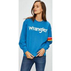 Wrangler - Bluza. Szare bluzy damskie Wrangler, z nadrukiem, z bawełny. Za 199.90 zł.