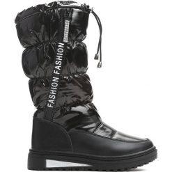 Czarne Śniegowce Humbleness. Czarne buty zimowe dziewczęce Born2be, z materiału. Za 109.99 zł.