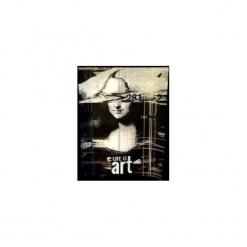 """T-shirt : """" Mona Lisa 3 """". Czarne t-shirty męskie Life is art, z nadrukiem, z klasycznym kołnierzykiem. Za 99.00 zł."""