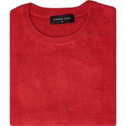 Sweter EDMONDO SWTR000212. Czerwone swetry przez głowę męskie Giacomo Conti, na jesień, z bawełny. Za 149.00 zł.