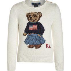Polo Ralph Lauren ICONIC BEAR Sweter essex cream. Swetry dla dziewczynek Polo Ralph Lauren, z bawełny, polo. W wyprzedaży za 423.20 zł.