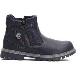 Granatowe Traperki City Park. Niebieskie buty zimowe chłopięce Born2be, z materiału. Za 69.99 zł.