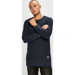 Sublevel - Sweter. Czarne swetry przez głowę męskie Sublevel, z bawełny, z okrągłym kołnierzem. Za 139.90 zł.