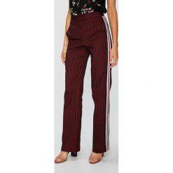 Pinko - Spodnie Telefono. Brązowe spodnie materiałowe damskie Pinko, z haftami, z acetatu. Za 1,099.00 zł.