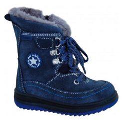 Protetika Buty Zimowe Za Kostkę Chłopięce Bory 22 Niebieski. Niebieskie buty zimowe chłopięce Protetika, ze skóry. Za 185.00 zł.