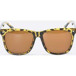 Jack & Jones - Okulary. Szare okulary przeciwsłoneczne męskie Jack & Jones, z materiału. W wyprzedaży za 59.90 zł.